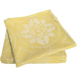 Adam Stoffserviette Romantic Puligny Light, (4 St.), nachhaltig Bio-Baumwolle gelb Stoffservietten Tischwäsche