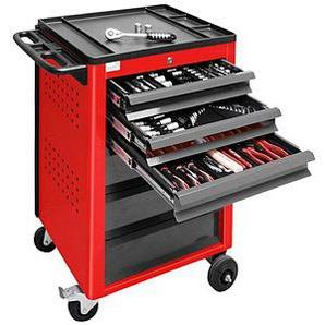 ADB Werkstattwagen rot 6 Schubladen inklusive Werkzeug