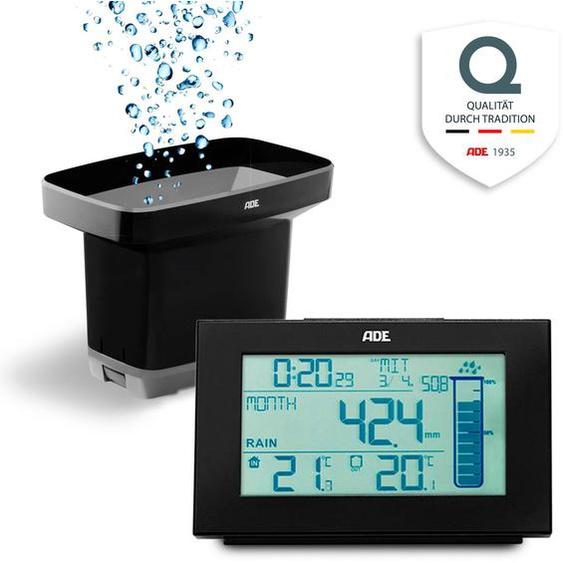 ADE »WS1907« Regenmesser (mit Außensensor, Thermometer und Funkuhr)
