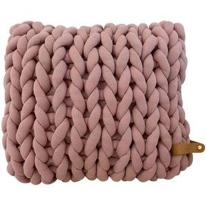 Adorist XXL Grobstrick Kissen Cotton Tube, mauve