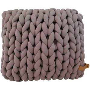 Adorist XXL Grobstrick Kissen Cotton Tube, taupe