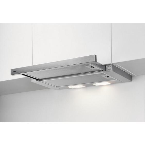 AEG Flachschirmhaube Dpb2621S , Silber , Metall , 59.8x17.9x28.4 cm
