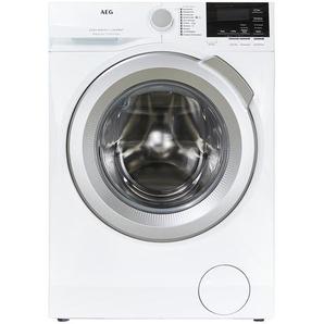 AEG Waschvollautomat  L6FB67490 - weiß - Glas , Metall-lackiert, Kunststoff - 60 cm - 85 cm - 66 cm   Möbel Kraft