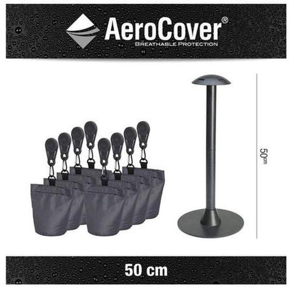 AeroCover Abstandshalter + 8 Sandsäcke (unbefüllt) inkl. Clips für Schutzhüllen Dunkelgrau