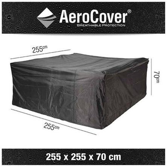 AeroCover Loungesethülle 255x255x70cm Dunkelgrau