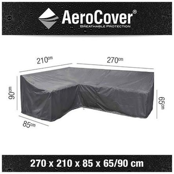 AeroCover Loungesethülle 270x210x85x65/90cm L-Form Dunkelgrau