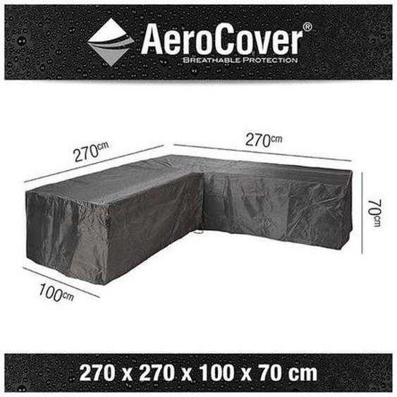 AeroCover Loungesethülle 270x270x100x70cm L-Form Dunkelgrau
