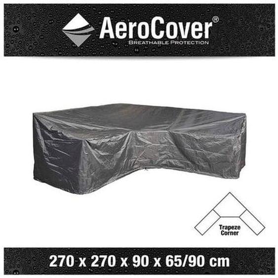 AeroCover Loungesethülle 270x270x90x65/90cm L-Form Dunkelgrau