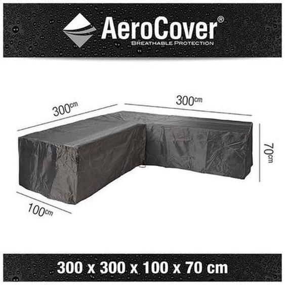 AeroCover Loungesethülle 300x300x100x70cm L-Form Dunkelgrau