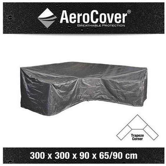 AeroCover Loungesethülle 300x300x90x65/90cm L-Form Abdeckung Dunkelgrau