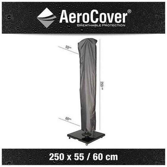 AeroCover Schirmhülle für Ampelschirm bis Ø350cm - Umfang 60/55 cm Dunkelgrau