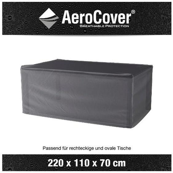 AeroCover Tisch-Schutzhülle, Anthrazit, Polyester 220 x 110 cm