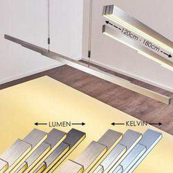 Airolo Pendelleuchte LED Nickel-Matt, Chrom, 3-flammig - Modern - Innenbereich - versandfertig innerhalb von 2-4 Werktagen