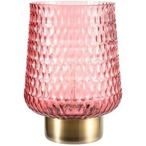 Akku-Tischleuchte, Glas rosa, groß ¦ rosa/pink Ø: 15.5