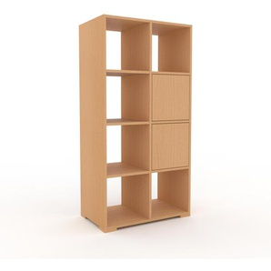 Aktenregal Buche - Flexibles Büroregal: Türen in Buche - Hochwertige Materialien - 79 x 158 x 47 cm, konfigurierbar