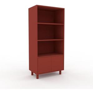 Aktenregal Burgundrot - Flexibles Büroregal: Türen in Burgundrot - Hochwertige Materialien - 77 x 168 x 47 cm, konfigurierbar