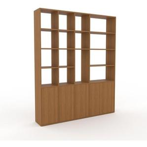 Aktenregal Eiche - Flexibles Büroregal: Türen in Eiche - Hochwertige Materialien - 193 x 233 x 35 cm, konfigurierbar
