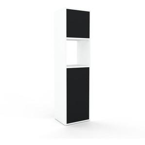 Aktenregal Weiß - Flexibles Büroregal: Türen in Schwarz - Hochwertige Materialien - 41 x 157 x 35 cm, konfigurierbar