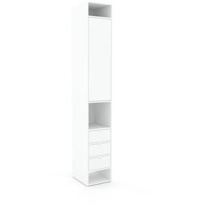 Aktenregal Weiß - Büroregal: Schubladen in Weiß & Türen in Weiß - Hochwertige Materialien - 41 x 253 x 47 cm, konfigurierbar