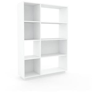 Aktenregal Weiß - Flexibles Büroregal: Hochwertige Qualität, einzigartiges Design - 116 x 162 x 35 cm, konfigurierbar