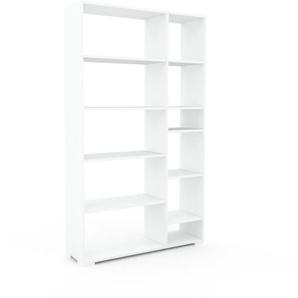 Aktenregal Weiß - Flexibles Büroregal: Hochwertige Qualität, einzigartiges Design - 116 x 196 x 35 cm, konfigurierbar