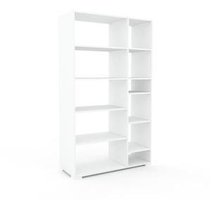 Aktenregal Weiß - Flexibles Büroregal: Hochwertige Qualität, einzigartiges Design - 116 x 196 x 47 cm, konfigurierbar