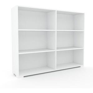 Aktenregal Weiß - Flexibles Büroregal: Hochwertige Qualität, einzigartiges Design - 152 x 120 x 35 cm, konfigurierbar