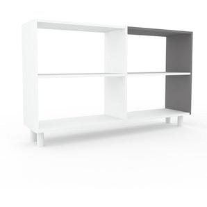 Aktenregal Weiß - Flexibles Büroregal: Hochwertige Qualität, einzigartiges Design - 152 x 91 x 35 cm, konfigurierbar
