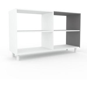 Aktenregal Weiß - Flexibles Büroregal: Hochwertige Qualität, einzigartiges Design - 152 x 91 x 47 cm, konfigurierbar