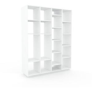 Aktenregal Weiß - Flexibles Büroregal: Hochwertige Qualität, einzigartiges Design - 156 x 200 x 47 cm, konfigurierbar