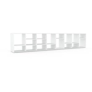 Aktenregal Weiß - Flexibles Büroregal: Hochwertige Qualität, einzigartiges Design - 310 x 61 x 35 cm, konfigurierbar
