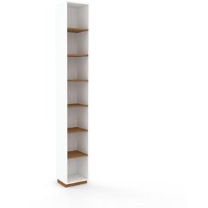 Aktenregal Weiß - Flexibles Büroregal: Hochwertige Qualität, einzigartiges Design - 41 x 277 x 35 cm, konfigurierbar