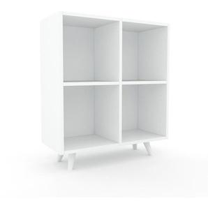Aktenregal Weiß - Flexibles Büroregal: Hochwertige Qualität, einzigartiges Design - 79 x 91 x 35 cm, konfigurierbar