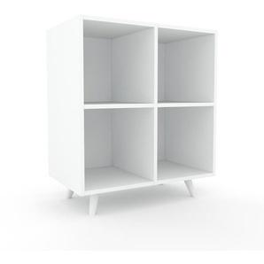 Aktenregal Weiß - Flexibles Büroregal: Hochwertige Qualität, einzigartiges Design - 79 x 91 x 47 cm, konfigurierbar