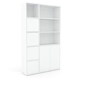 Aktenregal Weiß - Flexibles Büroregal: Türen in Weiß - Hochwertige Materialien - 116 x 195 x 35 cm, konfigurierbar
