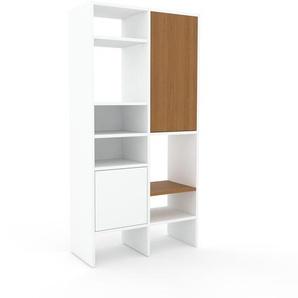 Aktenregal Weiß - Flexibles Büroregal: Türen in Weiß - Hochwertige Materialien - 79 x 157 x 35 cm, konfigurierbar