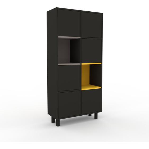 Aktenschrank Anthrazit - Flexibler Büroschrank: Türen in Anthrazit - Hochwertige Materialien - 79 x 168 x 35 cm, Modular