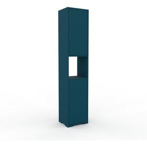 Aktenschrank Blau - Flexibler Büroschrank: Türen in Blau - Hochwertige Materialien - 41 x 196 x 35 cm, Modular