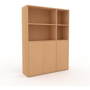 Aktenschrank Buche - Flexibler Büroschrank: Türen in Buche - Hochwertige Materialien - 116 x 157 x 35 cm, Modular