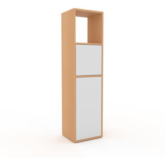 Aktenschrank Buche - Flexibler Büroschrank: Türen in Weiß - Hochwertige Materialien - 41 x 157 x 35 cm, Modular