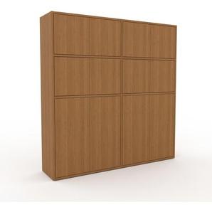 Aktenschrank Eiche - Flexibler Büroschrank: Türen in Eiche - Hochwertige Materialien - 152 x 157 x 35 cm, Modular