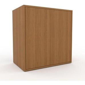 Aktenschrank Eiche - Flexibler Büroschrank: Türen in Eiche - Hochwertige Materialien - 77 x 80 x 47 cm, Modular