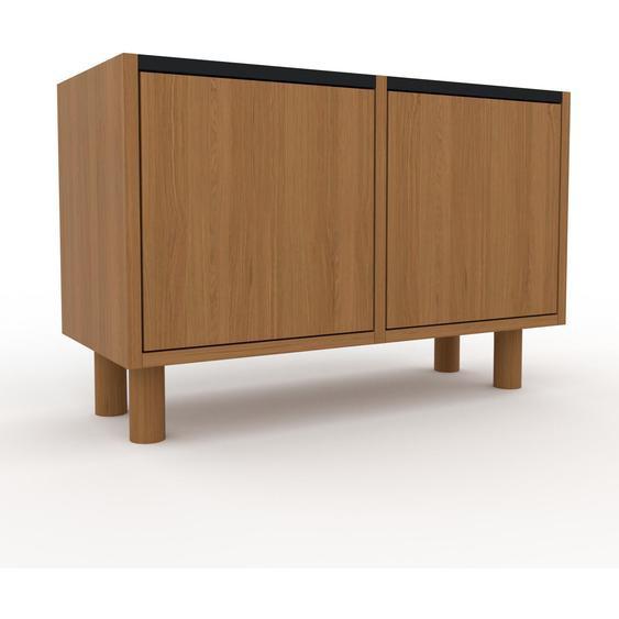 Aktenschrank Eiche - Flexibler Büroschrank: Türen in Eiche - Hochwertige Materialien - 79 x 53 x 35 cm, Modular
