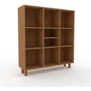 Aktenschrank Eiche, Holz - Flexibler Büroschrank: Hochwertige Qualität, einzigartiges Design - 118 x 130 x 35 cm, Modular