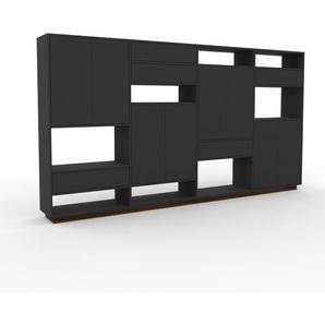 Aktenschrank Anthrazit - Büroschrank: Schubladen in Anthrazit & Türen in Anthrazit - Hochwertige Materialien - 301 x 162 x 35 cm, Modular