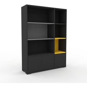 Aktenschrank Anthrazit - Flexibler Büroschrank: Türen in Anthrazit - Hochwertige Materialien - 116 x 158 x 35 cm, Modular