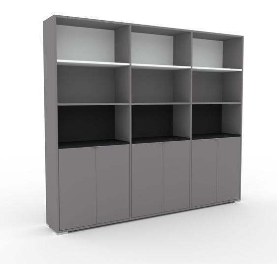 Aktenschrank Grau - Flexibler Büroschrank: Türen in Grau - Hochwertige Materialien - 226 x 196 x 35 cm, Modular