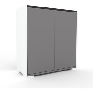 Aktenschrank Grau - Flexibler Büroschrank: Türen in Grau - Hochwertige Materialien - 77 x 81 x 35 cm, Modular