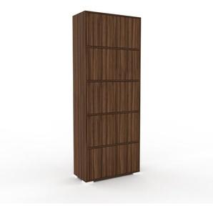 Aktenschrank Nussbaum - Flexibler Büroschrank: Türen in Nussbaum - Hochwertige Materialien - 77 x 196 x 35 cm, Modular
