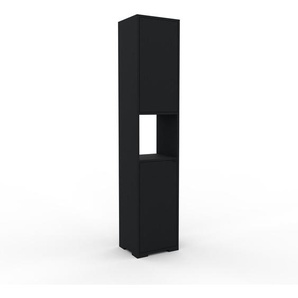 Aktenschrank Schwarz - Flexibler Büroschrank: Türen in Schwarz - Hochwertige Materialien - 41 x 196 x 35 cm, Modular